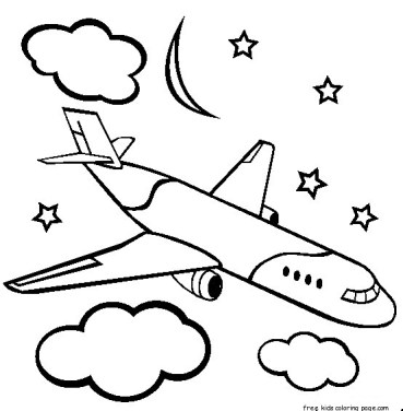 Boeing airplane coloring pages for kids to print out