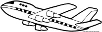 Boeing 707 air force one coloring page for kids