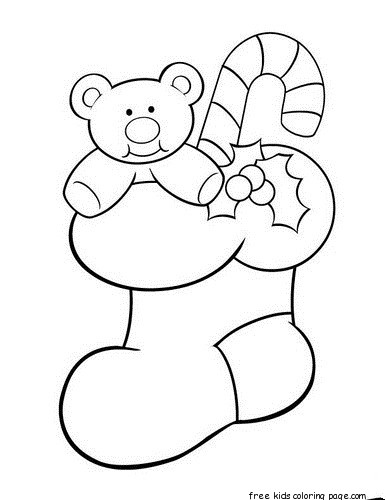 Christmas Bear Printable Coloring Pages