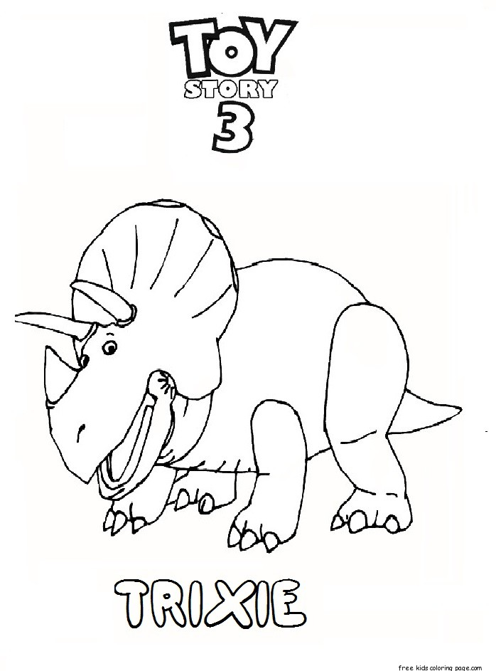 Printable toy story 3 trixie coloring pages for kidsFree