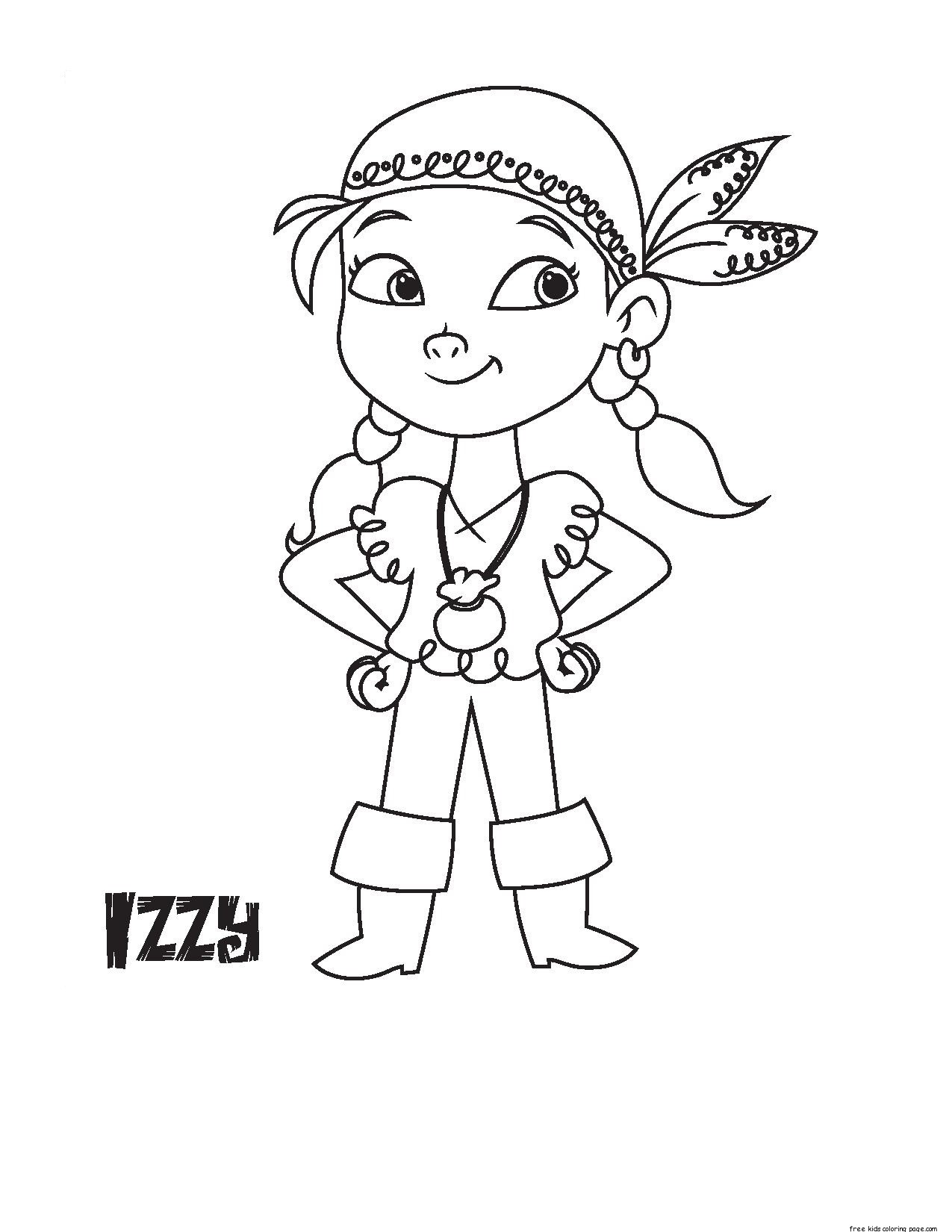 Printable Disney Junior Izzy Coloring Book Pages For
