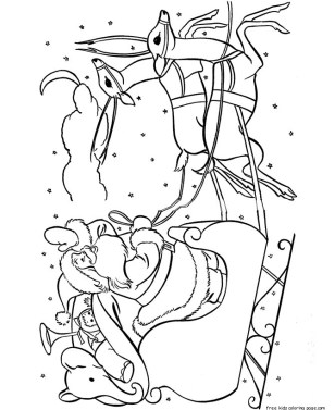 coloring pages of christmas Sleigh of Toys