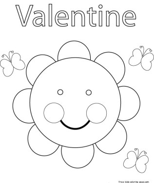 Cute by me valentine sunflower coloring in sheets