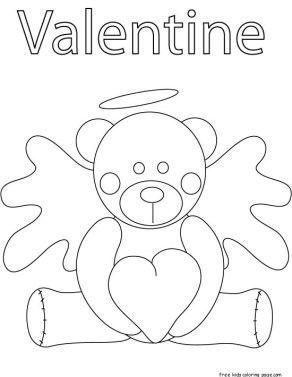 Pooh Bear Valentines Day Coloring Pages For Kids Free Kids Coloring Pagefree Kids Coloring Page