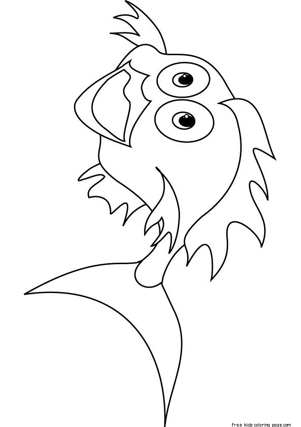 Printable goldfish bowl coloring page for kidsFree