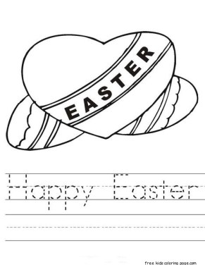 Happy easter worksheets tracing coloring sheets for kids to print out.