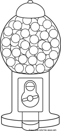 Print Out Gumball Machine Coloring Page For Kidsfree