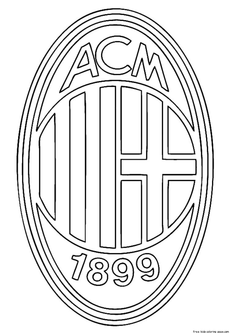 Printable soccer ac milan logo coloring pages for kidsFree
