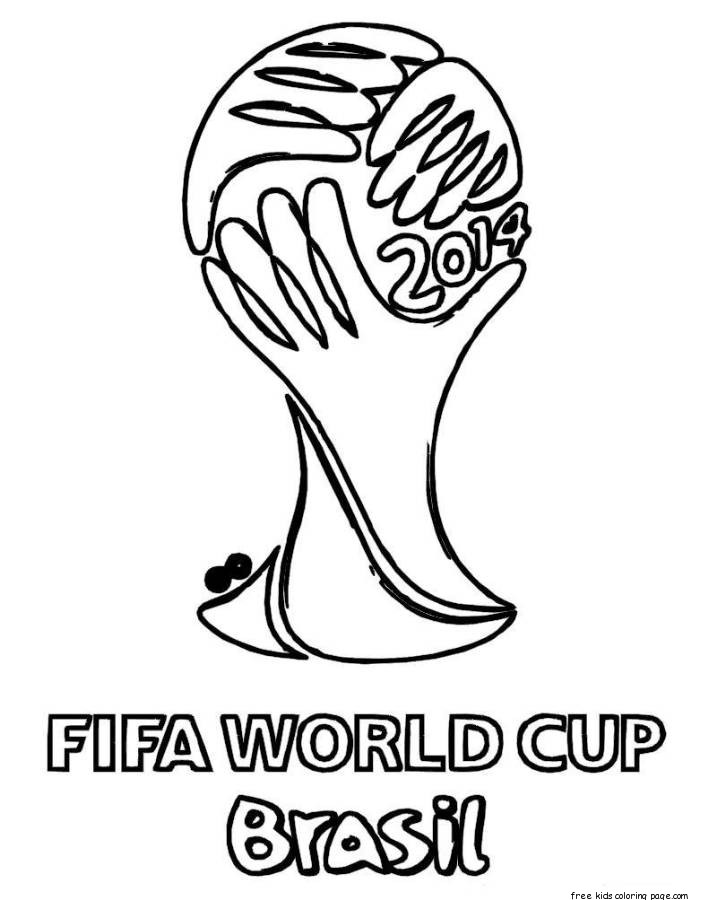 Printable soccer world cup brazil coloring pages for
