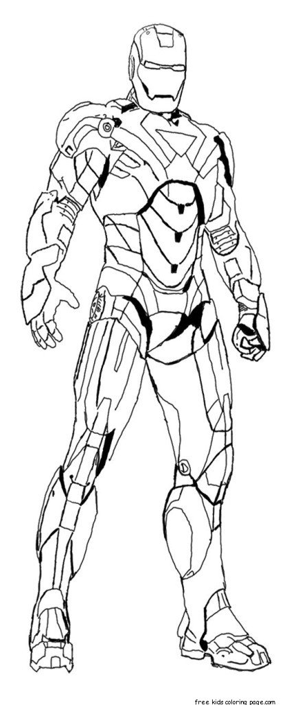 iron man colouring pictures to print for kidsFree