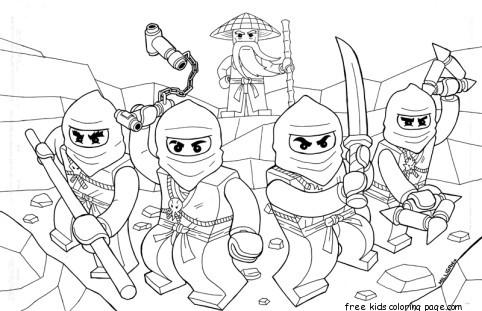 Printable Coloring Pages Of Ninjago For KidsFree Printable