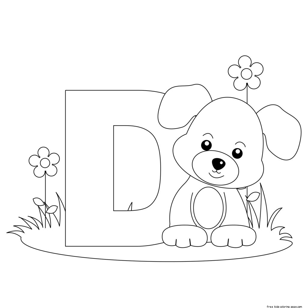 Printable Animal Alphabet Letter D For Dog For