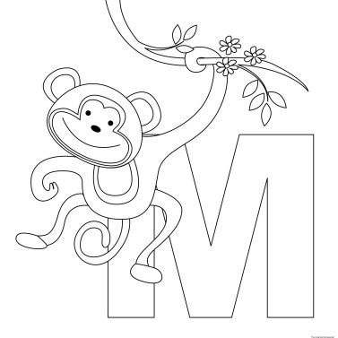 letter coloring pages printable animal alphabet letters m coloring pagesfree 1359