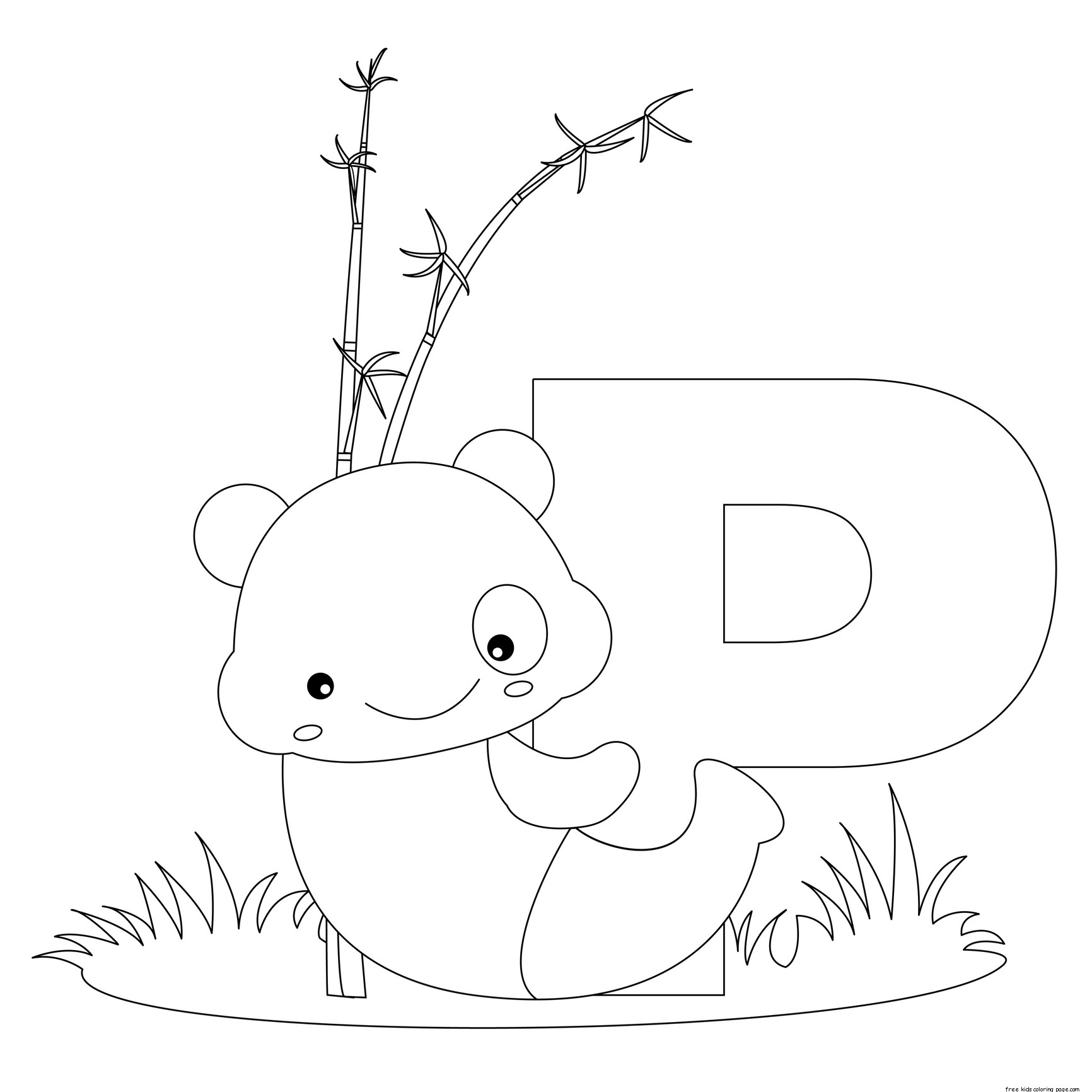 Animal Alphabet Letters To Print And Color Letter P For Pandafree Printable Coloring Pages For Kids