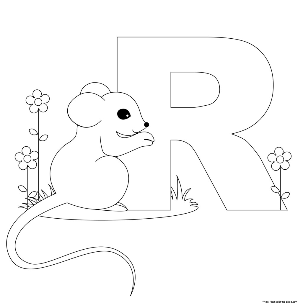 Printable Animal Alphabet Letters Coloring Pages Letter Rfree Printable Coloring Pages For Kids
