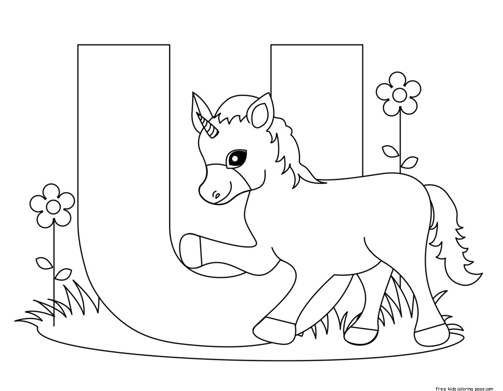printable alphabet letters uppercase letter U is for