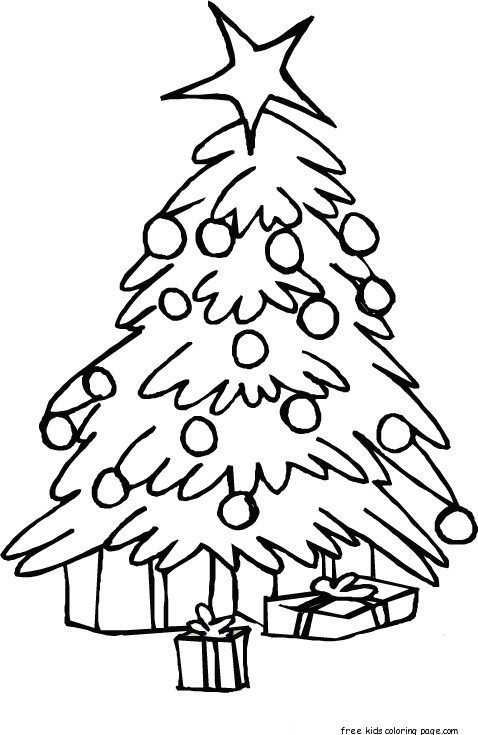 printable christmas tree coloring pages for kidsFree