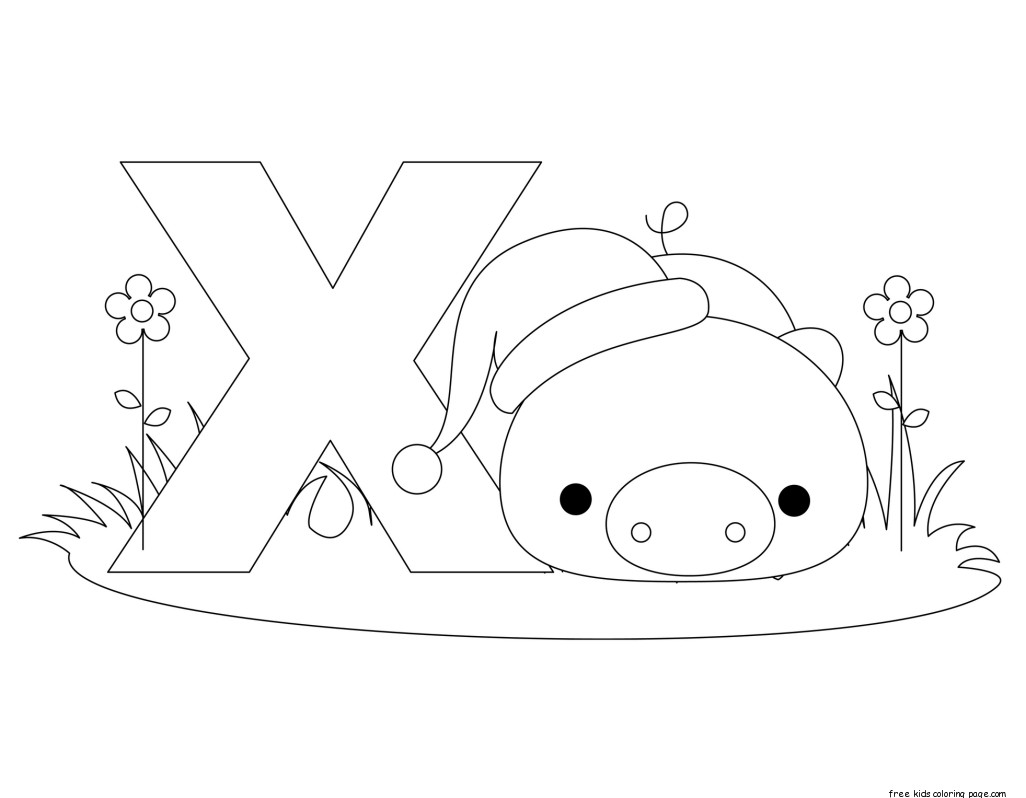 Printable Alphabet Letter X Worksheet For Xenarthrafree Printable Coloring Pages For Kids