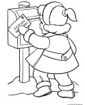 little girl sent a letter to santa claus coloring pages print out