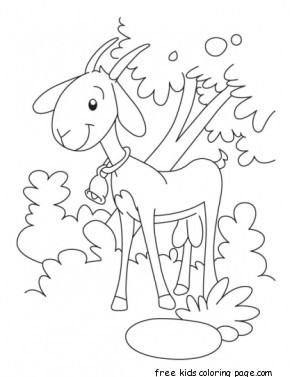 Printable goat coloring pages kindergartenFree Printable