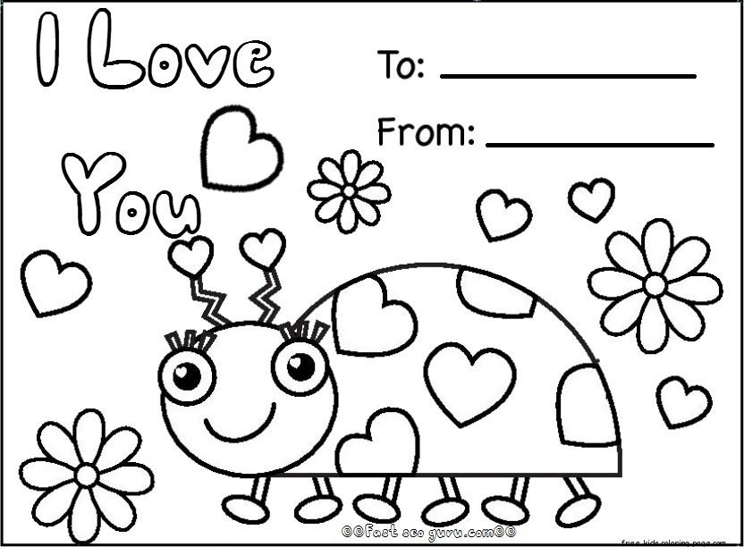 Free happy valentines day cards printablesFree Printable