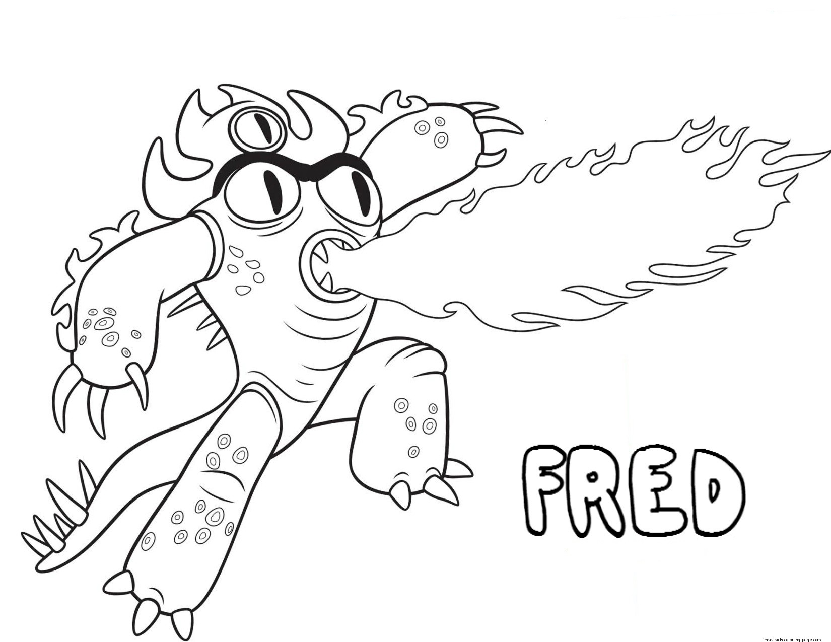 Printable big hero 6 coloring pages fred for kidsFree