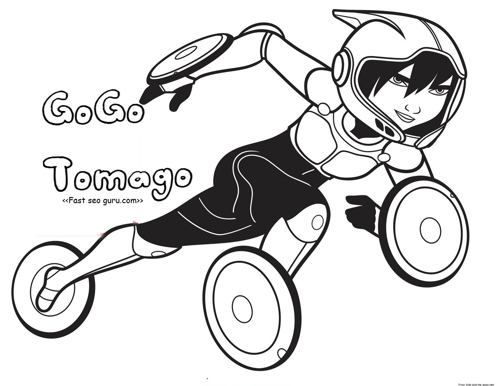 Printable Big Hero 6 Coloring Pages Gogo Tomago For