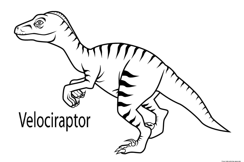 Printable Velociraptor Dinosaur Coloring Book Pages For Kidsfree Printable Coloring Pages For Kids