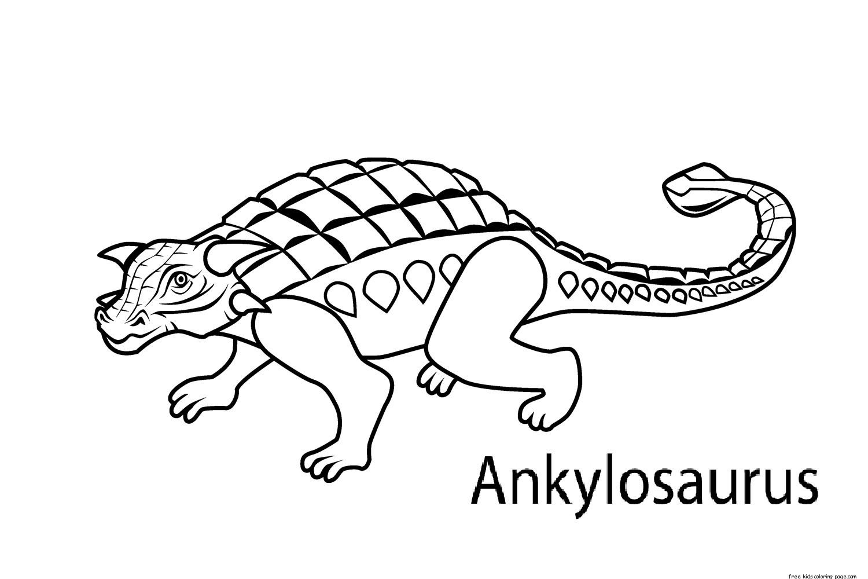 Printable Dinosaur Coloring Pages Ankylosaurus For Kidsfree Printable Coloring Pages For Kids