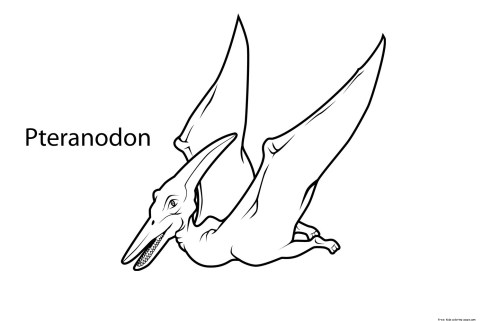 Printable dinosaur pteranodon coloring pages