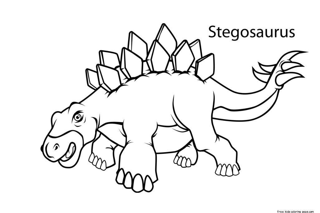 Printable Stegosaurus Dinosaur Coloring Pages For KidsFree