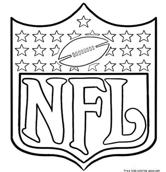 Printable nfl football coloring pages for kidsFree