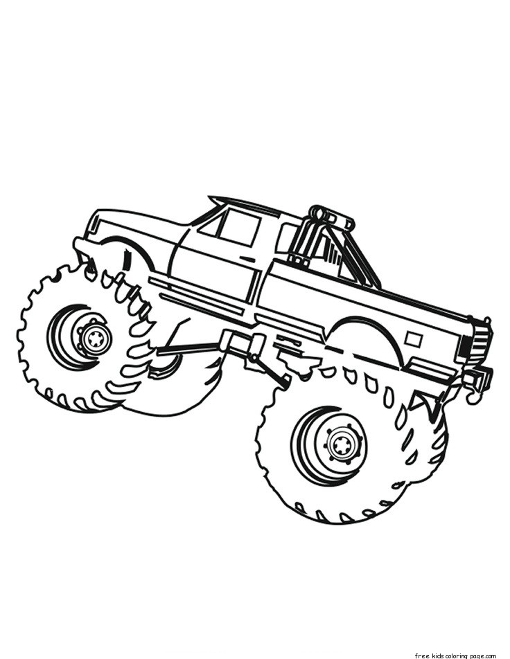 Printable monster truck coloring pages for kids.Free
