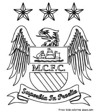 Printable manchester city logo soccer coloring pagesFree