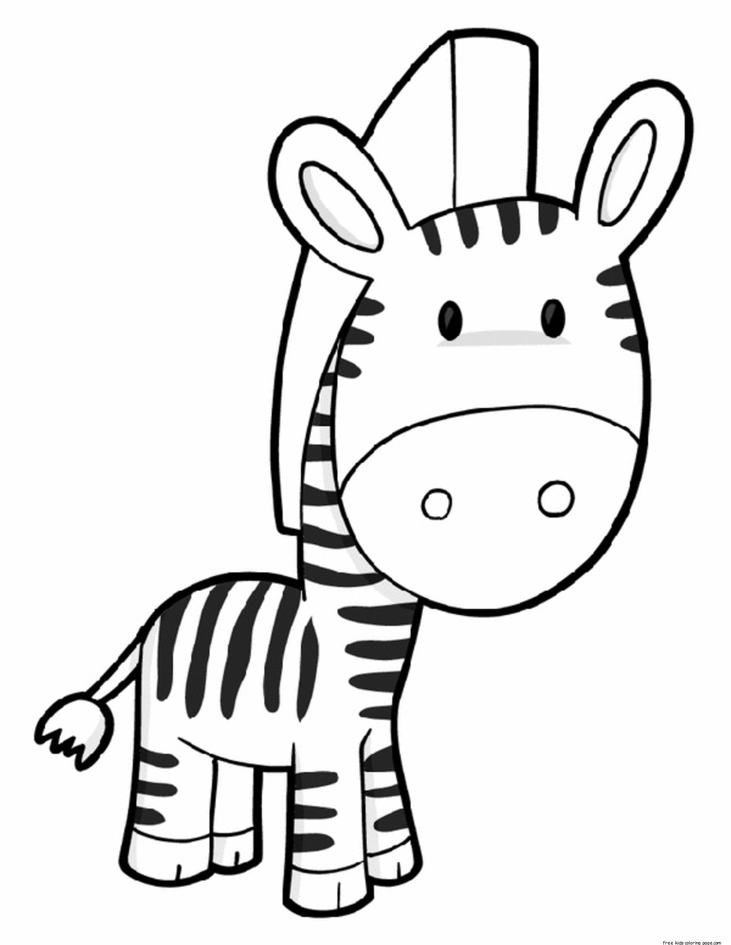 Printable Zebra Preschool Coloring Page For Kidsfree Printable Coloring Pages For Kids