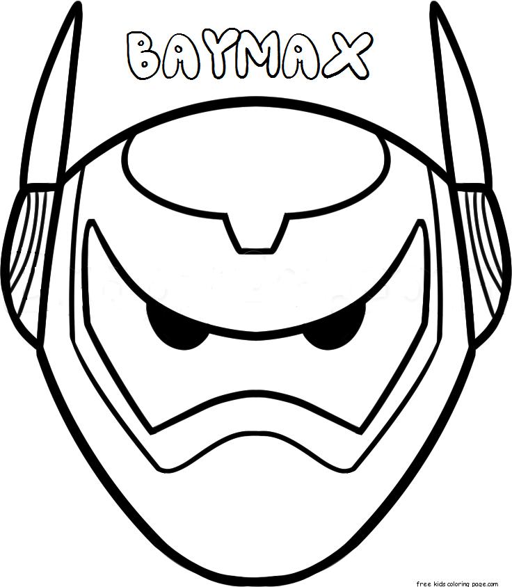Print out mask big hero 6 baymax armorFree Printable