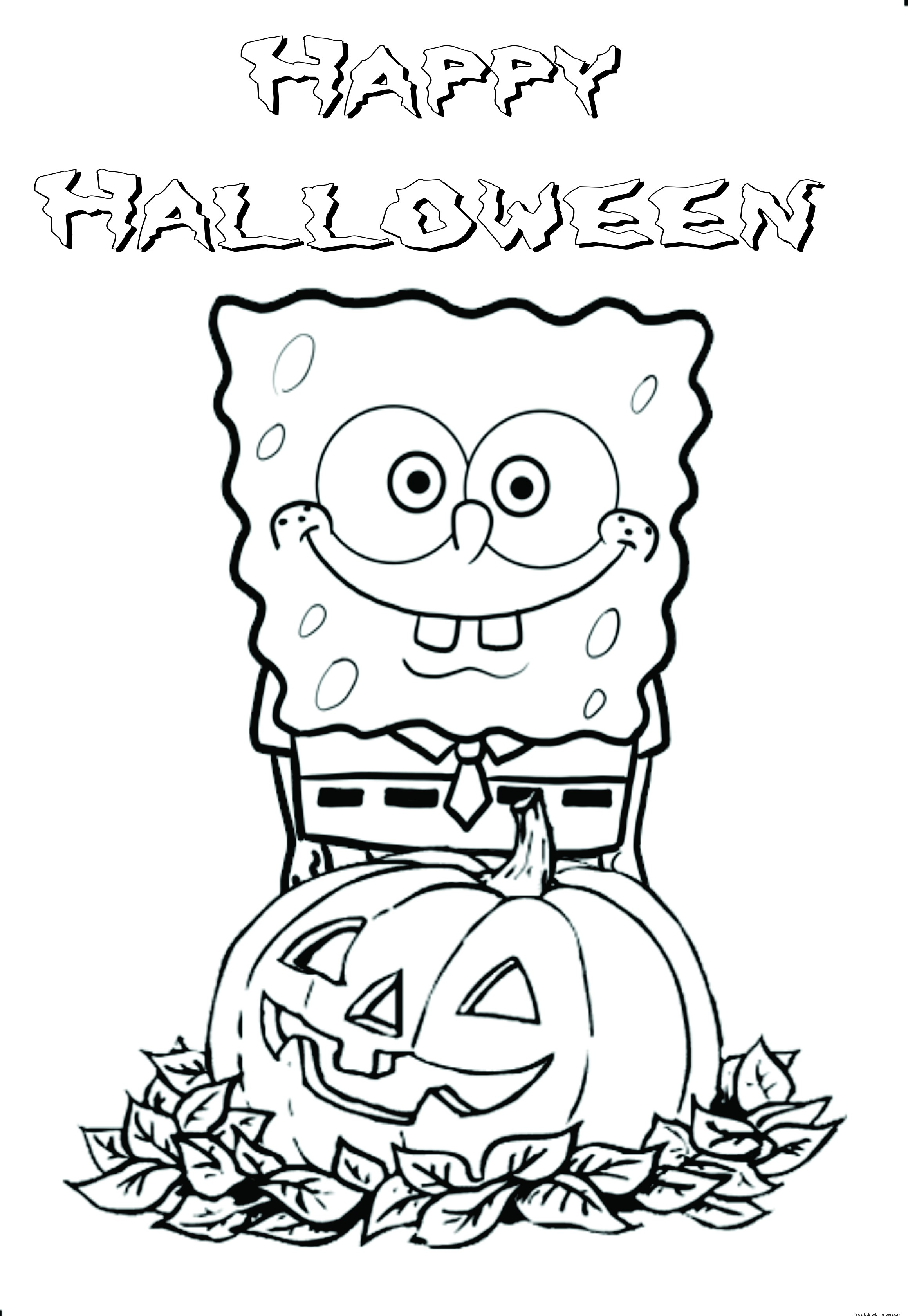 Printable Halloween Spongebob Coloring Pagesfree Printable Coloring Pages For Kids