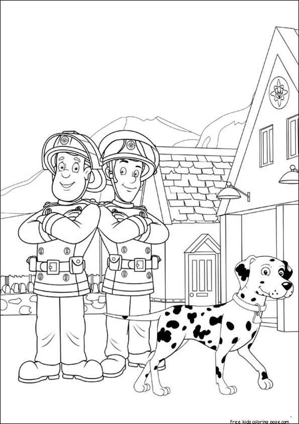 fireman sam and elvis printable coloring pagesFree