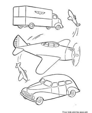 Military car and airplane coloring pages to print out for kids.
