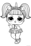 LOL Doll Unicorn Coloring Page for kids