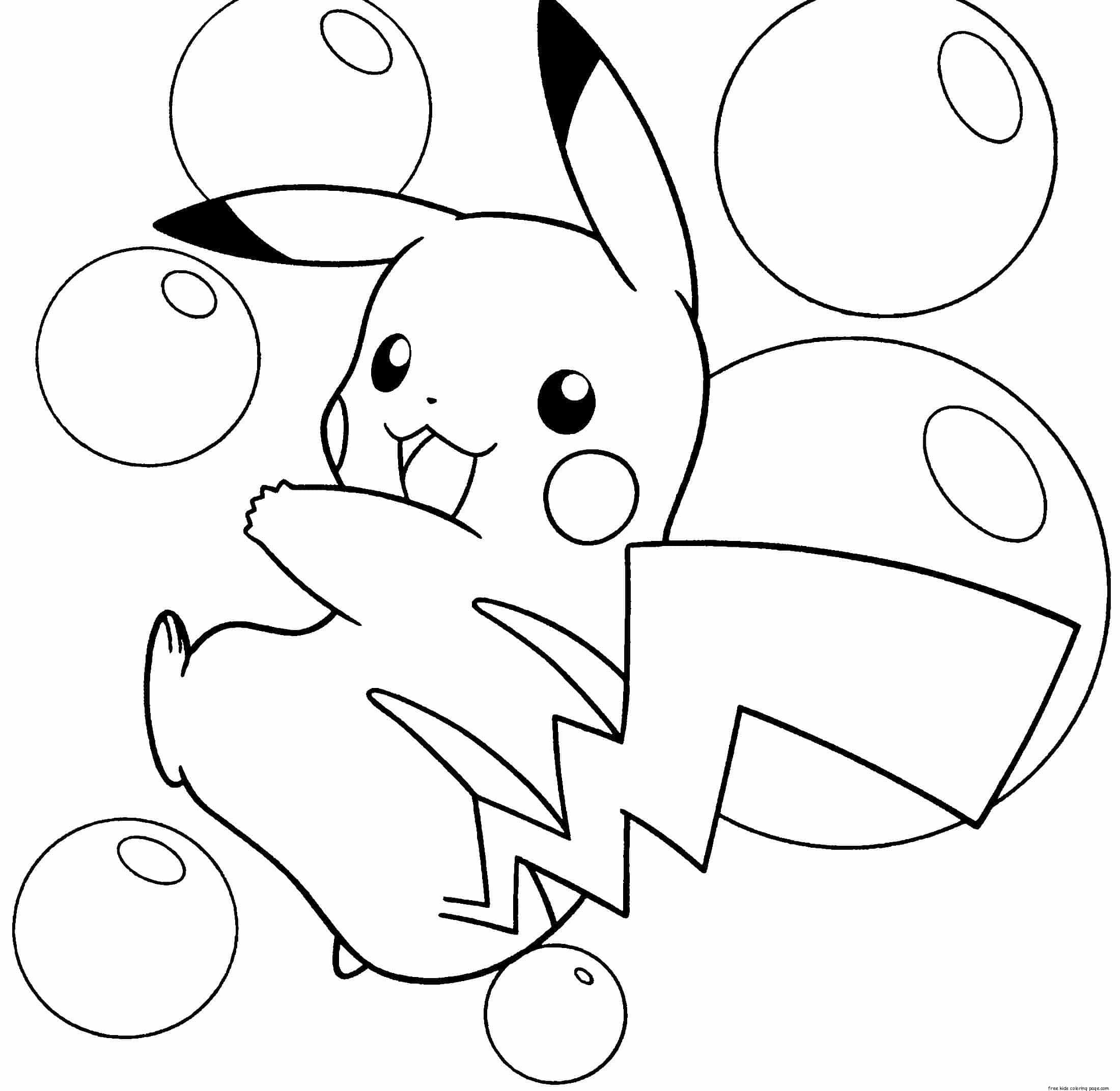 coloring pages of pikachu - Free Printable Coloring Pages ...
