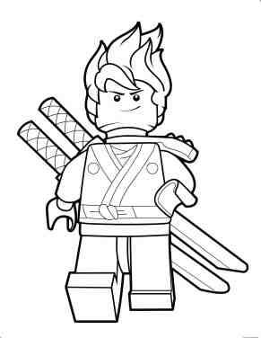 lego ninjago kai coloring page for kids print out