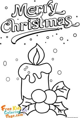 Christmas Candles coloring pages printable for kids