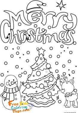 christmas snowman reindeer coloring pages to print out for kids