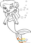 little mermaid coloring pages printable for kids