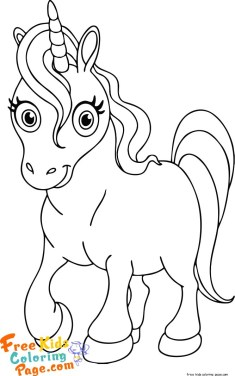 pictures to color unicorn for kids print out