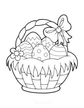 coloring pages easter egg basket to print