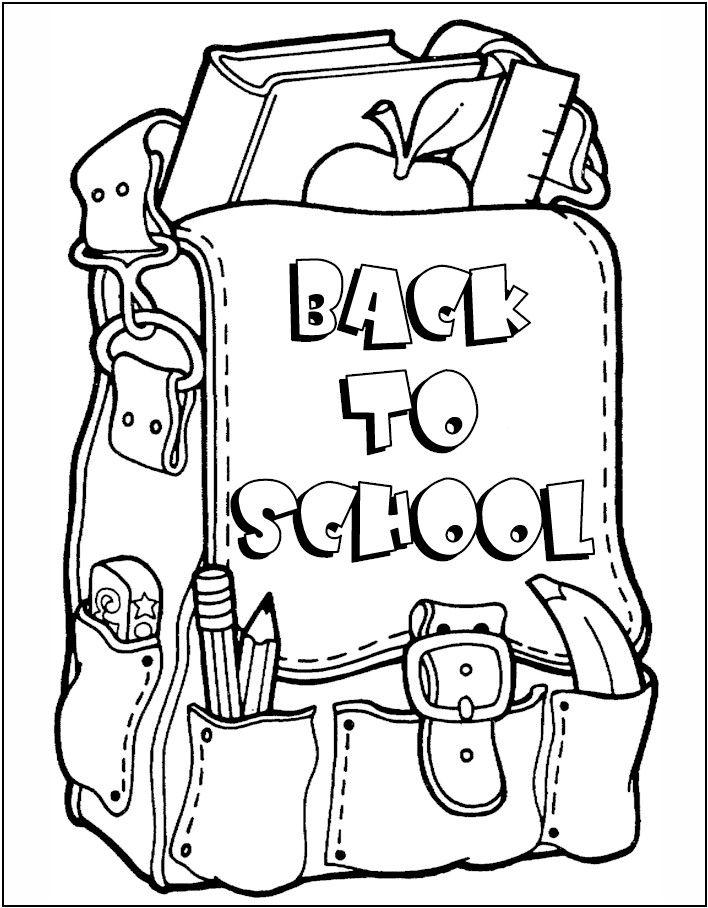 COLORING DAY FIRST SCHOOL SHEET « Free Coloring Pages