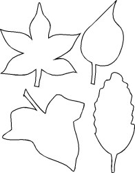leaf outlines outline fall leaves clipart template crafts printable door templates hanger rainforest jungle makingfriends clip drawing print pattern coloring