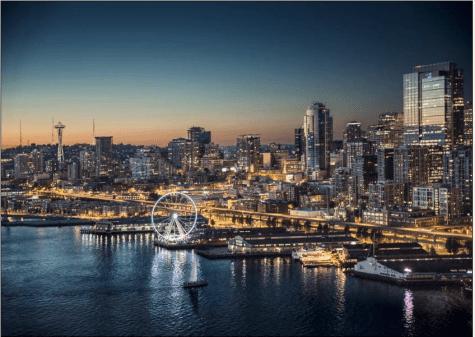 JP Morgan Seattle Ferris Wheel